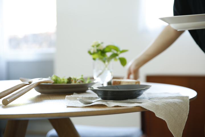 イイホシユミコ オーバルプレート 朝食