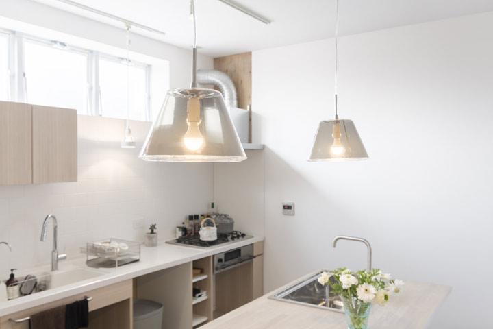 キッチンカウンター 照明