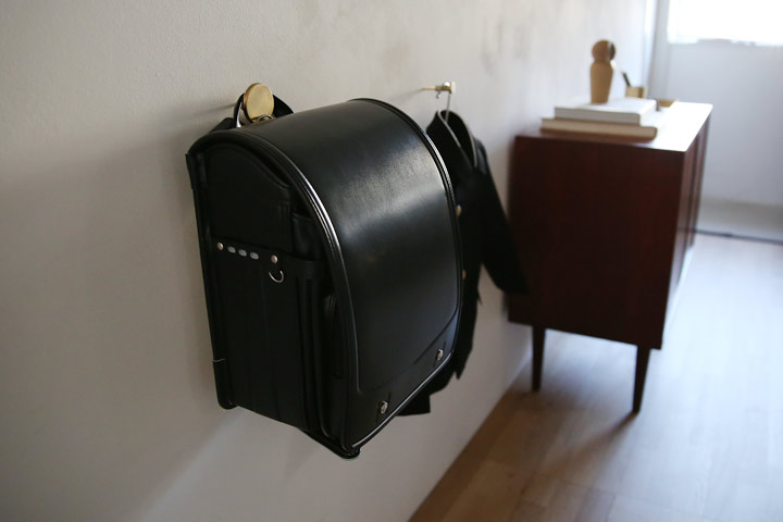 北欧ヴィンテージ家具 リビング収納 壁掛けフック 真鍮