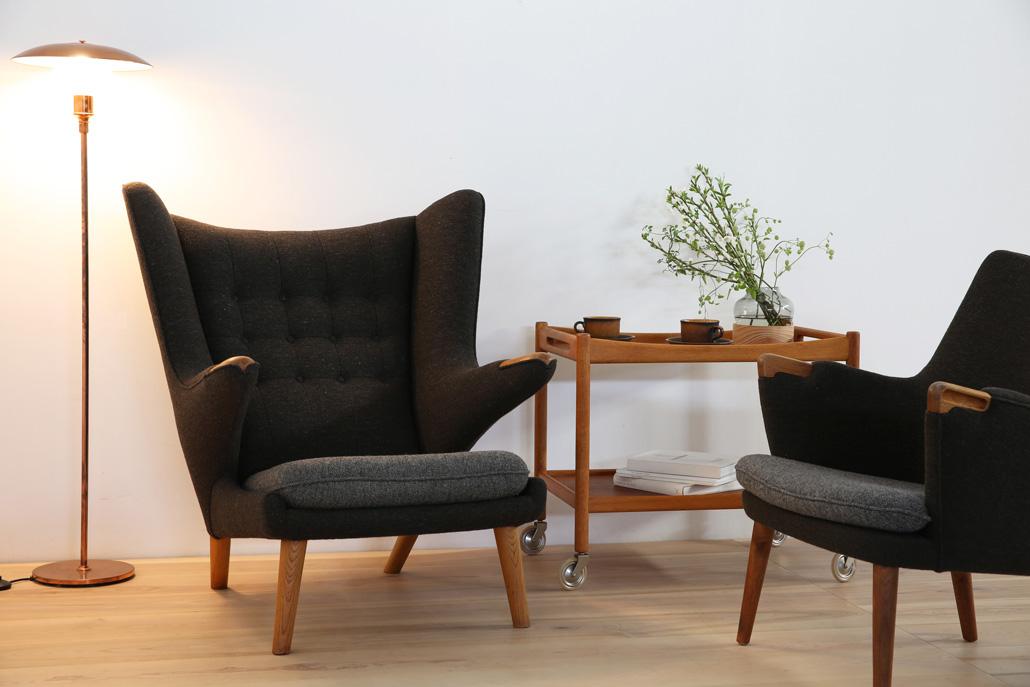 ハンス・J・ウェグナー パパベアチェア 北欧ヴィンテージ家具