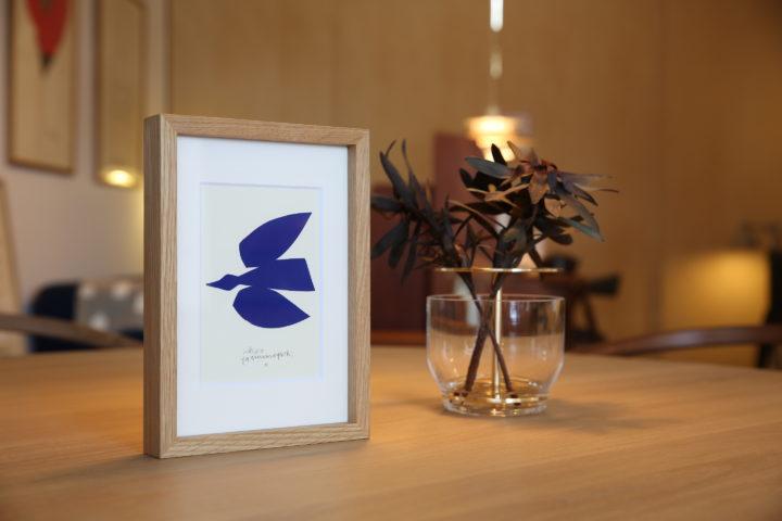 山口一郎,シルクスクリーン,Bluebird,青い鳥,