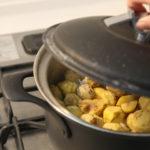 秋ご飯。やっぱりお鍋で炊くと味が全然違います!